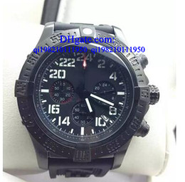 Battery numBers online shopping - Luxury watches Free box date WATCH quartz movement stopwatch white spuer seawolf men watches number satinless steel wristwatch
