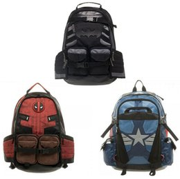 $enCountryForm.capitalKeyWord Canada - Marvel Deadpool laptop backpack good quality unisex school bags travel bag Cosplay backpacks