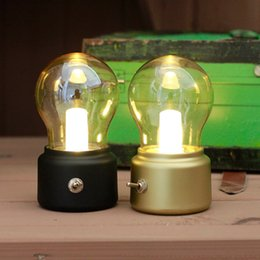 $enCountryForm.capitalKeyWord NZ - British retro LED bulb light lamp Metallic glass usb lamp atmosphere rechargeable energy saving night light indoor lighting gift ZJ0328