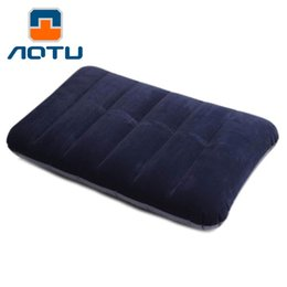 $enCountryForm.capitalKeyWord Canada - AOTU Car Travel Air Cushion Rest Pillow Blue Inflatable Bed Outdoor Camping Pillows Comfortable Blue Mattress 167