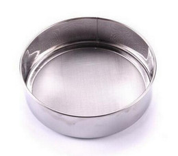 stainless steel sieve screen NZ - 10pcs lot, Diameter 12cm Stainless steel sieve cup screen mesh powder flour.