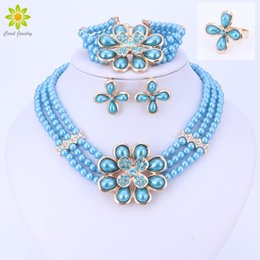 Discount african big bead necklaces - African Beads Jewelry Sets New Design Wedding Jewelry Sets Women Necklace For Party Fashion Big Flower Pendant Jewelry