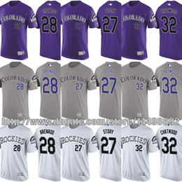 e7a31257208 ... 3 Michael Cuddyer 5 Carlos Gonzalez Colorado Rockies 2017 MLB T-Shirt  Mens Youth 27 Trevor Story 28 Nolan Arenado 32 ...