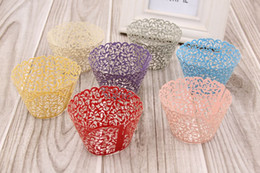 decoration for marriage NZ - 50PCS Lot Little Vine Lace Laser Cut Cupcake Wrappers Liners Baking Cup For Home Garden Wedding   Birthday Party Decoration