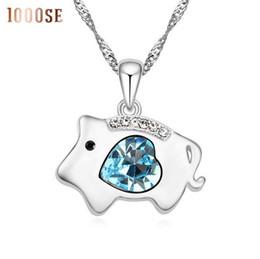 Genuine Swarovski Jewelry UK - 2017 new Twelve zodiac Crystal Necklace - genuine pig using SWAROVSKI elements crystal pendant jewelry wholesale sale