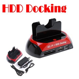 Discount sata hdd dock station - Wholesale- by dhl or ems 5 pieces Hot Sale 2.5 3.5 inch 3x SATA HDD Docking Station External Enclosure Clone USB 2.0 HUB