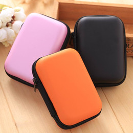 Wholesale Earphone Accessories Mini EVA Rectangle Storage Bag Card Key Money Coin Hard Box Digital Organizer Carrying Bag USB Charger Cable Small Case