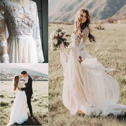 Discount outside wedding dresses outside wedding dresses 2018 on discount outside wedding dresses boho outside full lace tulle wedding dresses deep jewel neck a junglespirit Gallery