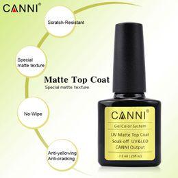 $enCountryForm.capitalKeyWord Canada - 10pcs*7.3ml Matt Topcoat Ttem 40602 CANNI Factory Supply Nail Art Salon Manicure DIY Design UV LED Gel Polish Matte Top Coat