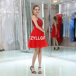 012b968ea38 Prom Girl Dresses Sale Canada - Red High Quality Short New Arrival Homecoming  Prom Dresses Beading