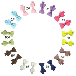 Barato Mini Clipes De Cabelo Para Crianças-Nova moda 20PCS / Pack Hair Clip Mini Bow nó Hairpins Hair Bow Headband kids Hair Accessories