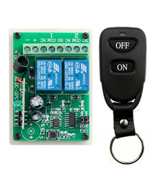 $enCountryForm.capitalKeyWord NZ - Wholesale- New DC12V 10A 2CH Remote Control Light Switch Relay Output Radio Receiver Module and Belt buckle Transmitter