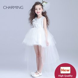 china wedding shop Canada - high low dresses for girls dresses flower girl School season party dress high quality china buy direct online shopping wholesale
