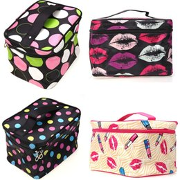 lingerie storage bags Canada - Multifunction Fashion Cosmetic Bag Big Travel Lingerie Bra Underwear Dot Bags Cosmetic Makeup Toiletry Storage Organizer Case