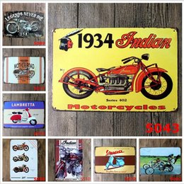 Chinese  Motorcycle Vintage Craft Tin Sign Retro Metal Painting Antique Iron Poster Bar Pub Signs Wall Art Sticker manufacturers