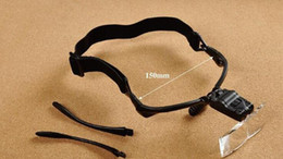 China Locksmith jeweler dedicated head-mounted magnifying glasses with LED lights(5 group lens-1.0X--1.5X-2.0X-2.5X-3.5X) suppliers