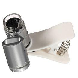 $enCountryForm.capitalKeyWord Canada - Universal 60X Optical Zoom LED light Clip Telescope Camera Microscope magnifying glass Lens for Mobile Phone Lens check lamp Hot Sale