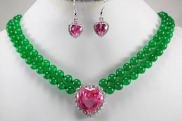 $enCountryForm.capitalKeyWord NZ - new 2014 Fashion Style 8-9MM Genuine White Akoya Cultured Pearl Rose Jade necklace earrings set BV68