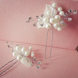 $enCountryForm.capitalKeyWord NZ - Korean style handmade crystal jewelry bridal hairpins for women and girls flower pearl rhinestone wedding hair accessories