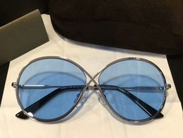 $enCountryForm.capitalKeyWord NZ - Women Designer TOM Silver Blue Lenes Sunglasses MOD 0564 Fashion Brand Sunglasses New with Box