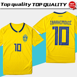 511bbb7ef Discount yellow soccer teams - 2018 world cup Sweden National Team soccer Jersey  Sweden Home yellow