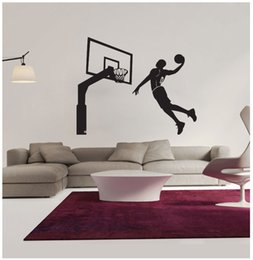 $enCountryForm.capitalKeyWord UK - New Arrival 76*62CM Basketball Players Wall Stickers PVC Removable Sport Wall Decal Mural Home Decoration for Boy's Room