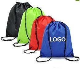 $enCountryForm.capitalKeyWord Canada - Customize Drawstring Polyester Tote bags Logo print waterproof Backpack folding bags Marketing advertising Promotion Gift