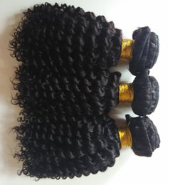 human hair weave 26inch NZ - Brazilian Curly Human Hair Weaves 3 Bundles Unprocessed Grade Best Quality Kinky Curly Extensions 8-26inch Indian Human Hair weft DHgate