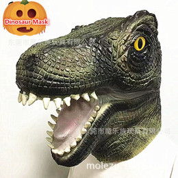 Artificial Chocolate Canada - Hot Sale Halloween Party Cosplay Scary Animal Mask Amusement Park Artificial Animatronic Latex Dinosaur Mask Full Head dinosaur mask