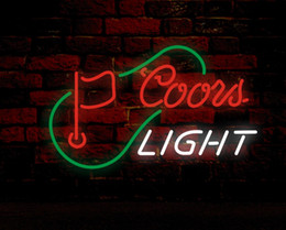 $enCountryForm.capitalKeyWord NZ - COORS LIGHT & FLAG Neon Sign Real Glass Tube Bar Store Business Advertising Home Decoration Art Gift Display Metal Frame Size 24''X20''
