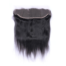 Ingrosso Capelli lisci brasiliani 13x4 Orecchio all'orecchio Pre Pizzicate Frontale Chiusura con Baby Hair Remy Parte libera dei capelli umani