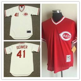 newest mens cincinnati reds tom seaver 1979 white cool base jerseys gray 41 tom seaver mlb cincinnat