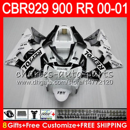 Honda Cbr929 Australia - Body For HONDA CBR 929RR CBR900RR CBR929RR 00 01 CBR 900RR 67HM20 Repsol black CBR929 RR CBR900 RR CBR 929 RR 2000 2001 Fairing kit 8Gifts