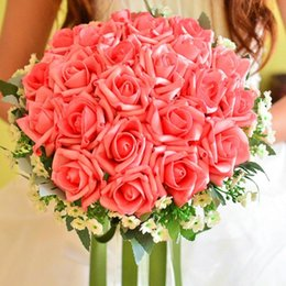 $enCountryForm.capitalKeyWord Canada - Bridal Bouquets Artificial Rose Flowers PE Silk Bride Hands Flower Wedding Decorations Bouquet 6 Colors Red Blue Pink Purple Champagne White