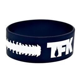 $enCountryForm.capitalKeyWord UK - Wholesale 50PCS Lot TFK Thousand Foot Krutch Punk Style Band Silicone Bracelet For Music Fans Gift Wristband