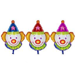 $enCountryForm.capitalKeyWord UK - 50pcs lot 80*63cm New Clown Heads Aluminum Balloons. Children Toys Party Birthday Decor Balloons