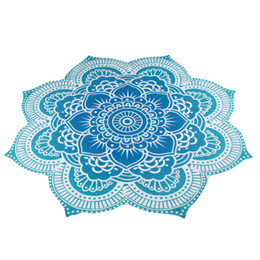Chinese  Wholesale- 4 Colors Round 150*150cm Gifts Beach Towel Mat Yoga Blankets Beach Cover Up Pool Home Shower Towel Table Cloth Yoga Mat manufacturers