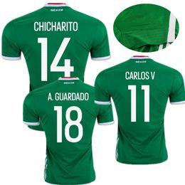 03180ac09 The shirt worn at the 2016 Copa America Mexico Soccer Jerseys Home Green Mexico  Jersey football shirt CHICHARITO Camisetas de futbol .