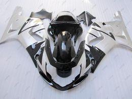 Kit Gsxr K1 Australia - Plastic Fairings GSXR1000 2000 Fairing Kits GSX-R750 00 01 Silvery Black Full Body Kits GSXR 600 750 1000 2002 2000 - 2003 K1 K2