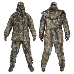 Waterproof camouflage clothing online shopping - 2017 Men winter Tactical Clothing Army Waterproof Clothes Set Military Camouflage Outdoor Hunting Clothes Jacket Pants Hat Gloves Mask