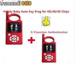 saab key copy NZ - DHL free shiping Portuguese Version V8.2.0 Handy Baby G Funtion Car Key Prog Auto Key Programmer for 4D 46 48 Chips + G Chip Copy Function