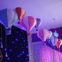 14 35 CM Multicolor Hot Air Balloon Paper Lantern Wishing Lanterns For Birthday Wedding Party Decor Gift Free Shipping