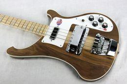 $enCountryForm.capitalKeyWord Australia - Top Sale RIC 4 Strings 4001 4004 4003 TRANSLUCENT WALNUT Vintage Natural Brown Electric Bass Guitar Maple Neck Thru Body, One PC Neck & Body
