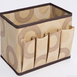 Wholesale cloth bamboo online shopping - Storage Box Large Capacity Multi Function Oxford Cloth Folding Finishing Case Desktop Sundries Cosmetics Bag Hot Sale nr J R