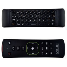 Discount neo box - Wholesale- MINIX NEO A2 Lite 2.4GHz Wireless Keyboard Gaming Air Mouse Six-axis Gyroscope Accelerometer for Android TV B