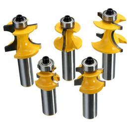 Drilling Cutter Australia - 5PCS Drill Bits 1 2 Inch Shank Router Bit Set Metal Wood Cutter Tool Dia 3 8 5 16 1 4 3 16 1 8 Dia Rail And Stile