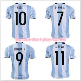 jerseysargentinathailandretaillong sleeve argentina 2016 home soccer jersey 2017 wholesale new argentina world cup soccer jersey 17 18 messi home di
