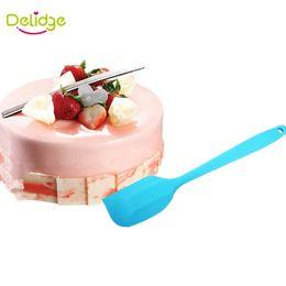 $enCountryForm.capitalKeyWord Canada - Delidge pc Colorful Batter Spatula Silicone Cake Cream Mixer Baking Scraper Long Handled Can Be Hung Bakeware Spatulas
