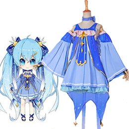 Malidaike Anime VOCALOID Neige Miku Hatsune Princesse Dress Robe Costume Cosplay Très Belle Conception