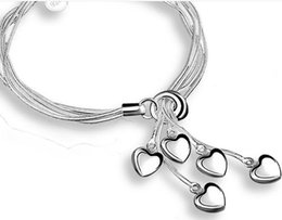 $enCountryForm.capitalKeyWord NZ - Tai Chi hanging 5 heart bracelet Europe and the United States fashion silver-plated bracelet heart-shaped jewelry direct gifts